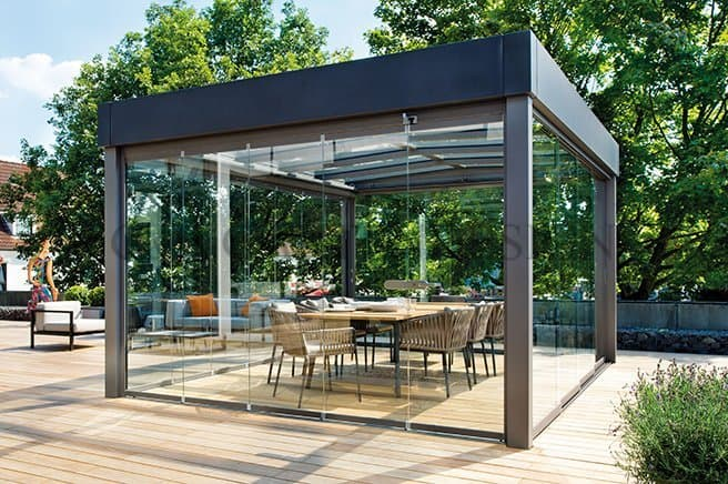 pavillon gartensauna whirlpool gempp gartendesign. Black Bedroom Furniture Sets. Home Design Ideas