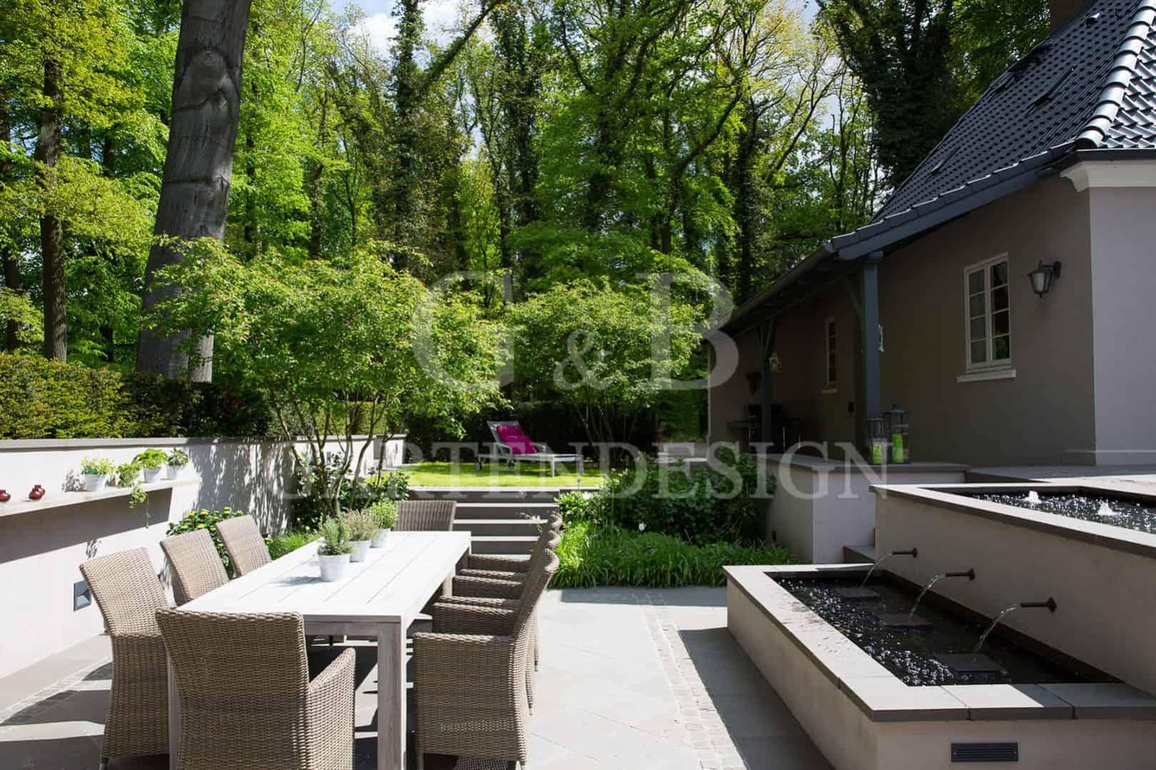 atriumgarten mit wasserspielen gartengestaltung niedersachsen gempp gartendesign. Black Bedroom Furniture Sets. Home Design Ideas