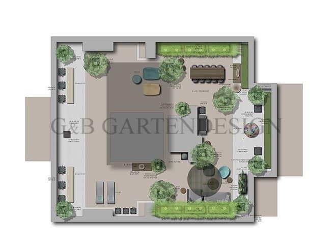 Gartenplanung Gartengestaltung Exklusive Dachterrasse Berlin Hamburg München