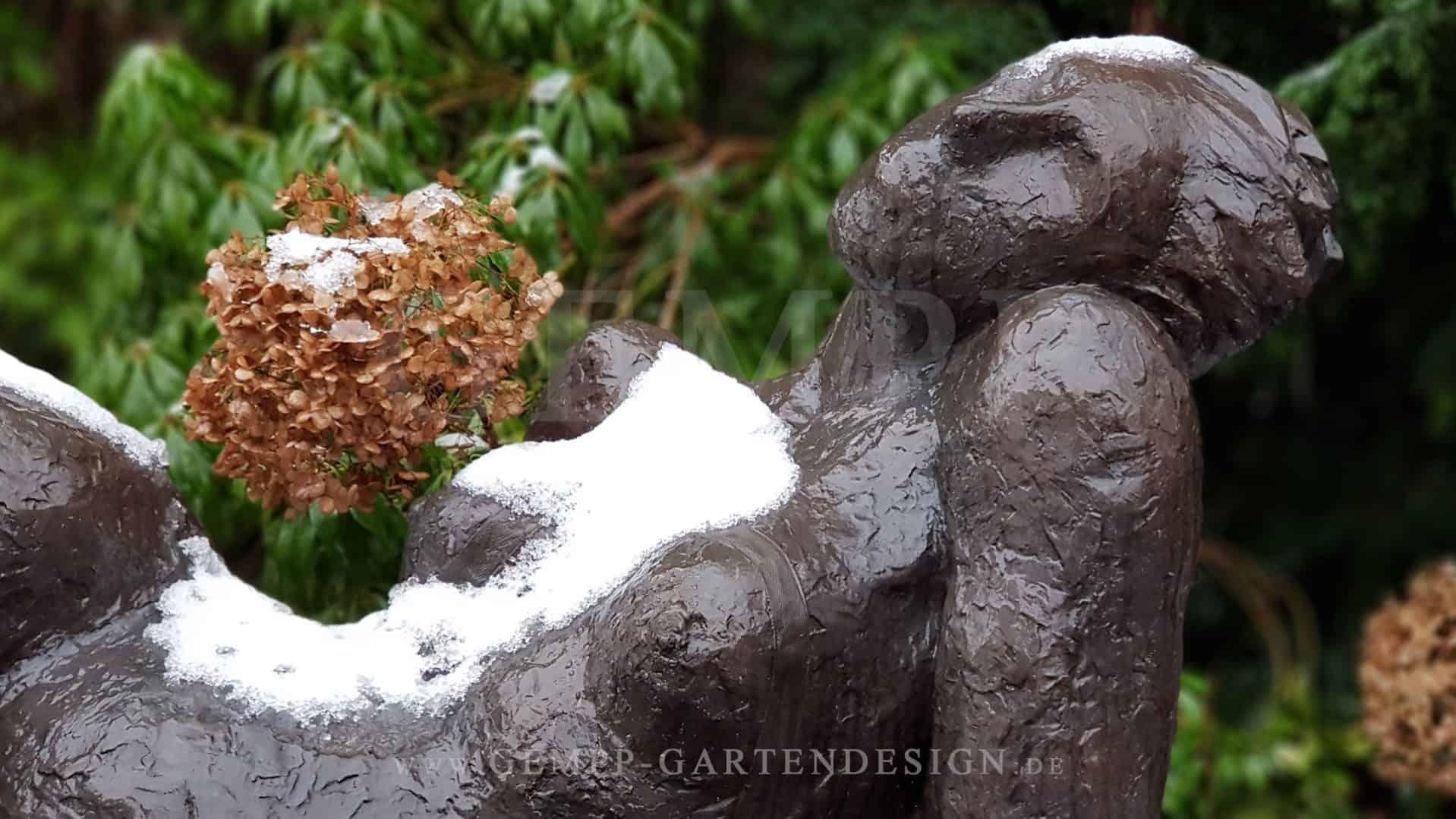 Moderne Gartenskulptur Aus Bronze Metall