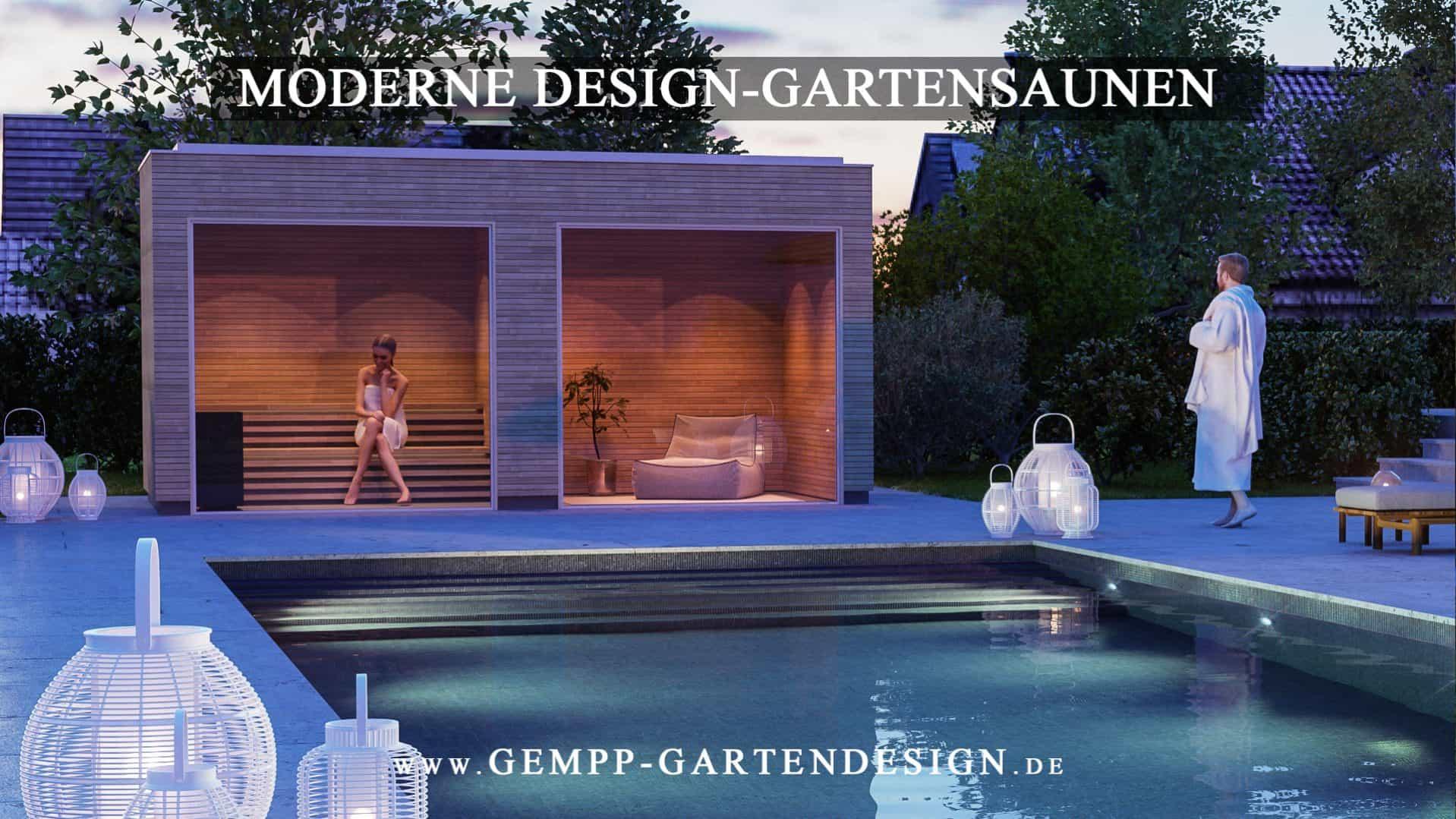 Gartensauna Aussensauna Gempp Gartendesign