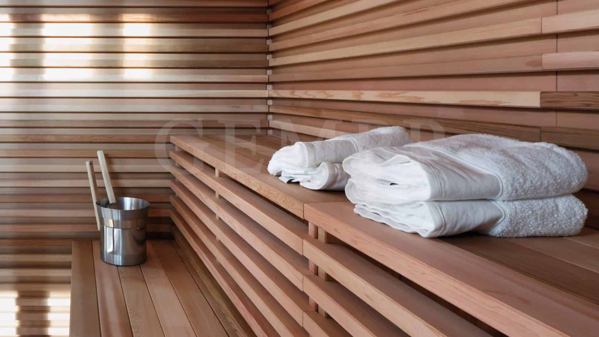sauna im garten good sauna und kaminzimmer im garten with. Black Bedroom Furniture Sets. Home Design Ideas