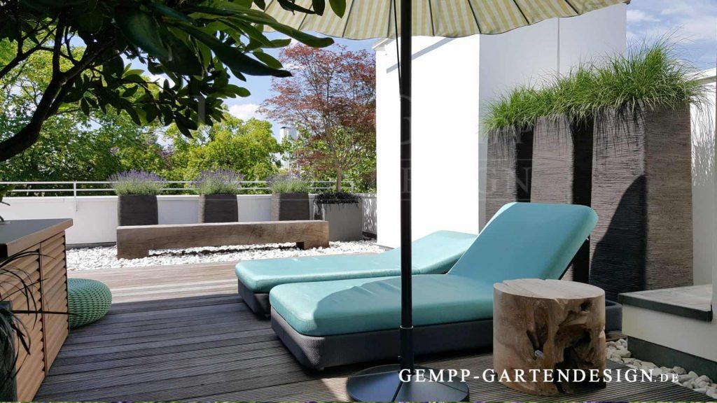 Dachterrassengestaltung Dachgarten planen gestalten