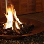 lagerfeuer im eigenen garten feuerschale
