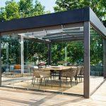 glas pavillon stahl