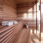 sauna im garten aussensauna saunahaus