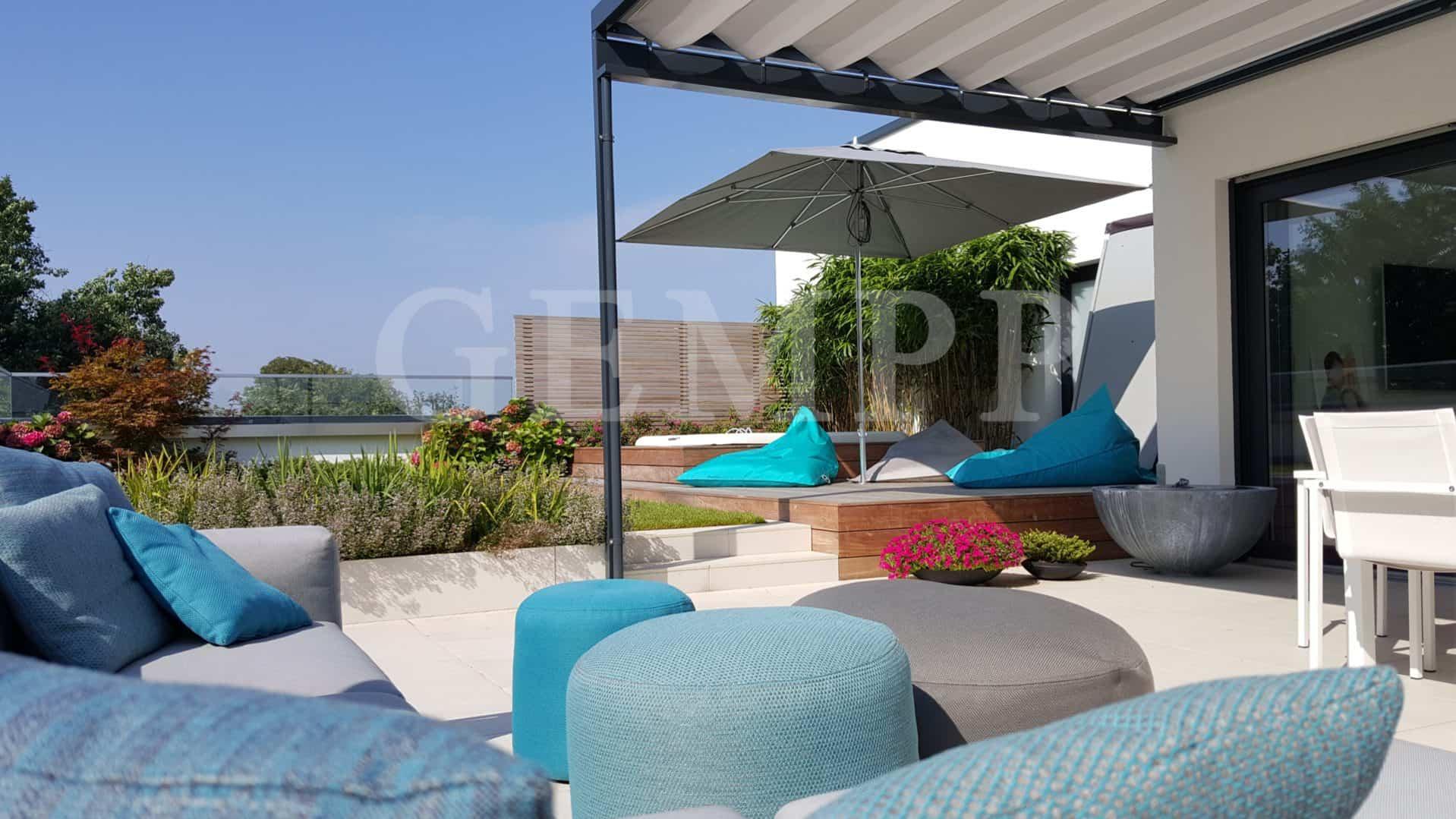 Dachterrasse Dachterrassengestaltung Penthouse Outdoor Whirlpool Hannover