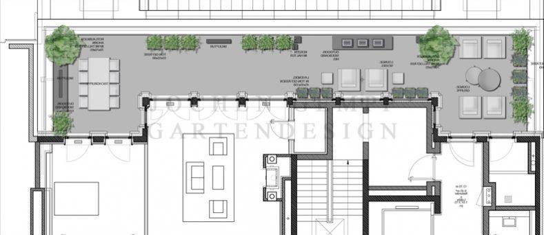 dachterrassengestaltung penthousewohnung berlin | gempp gartendesign, Wohnzimmer dekoo