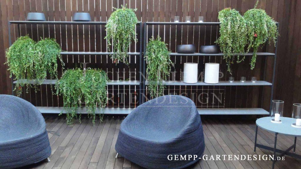 Moderne Gartengestaltung Wohnzimmer im Garten