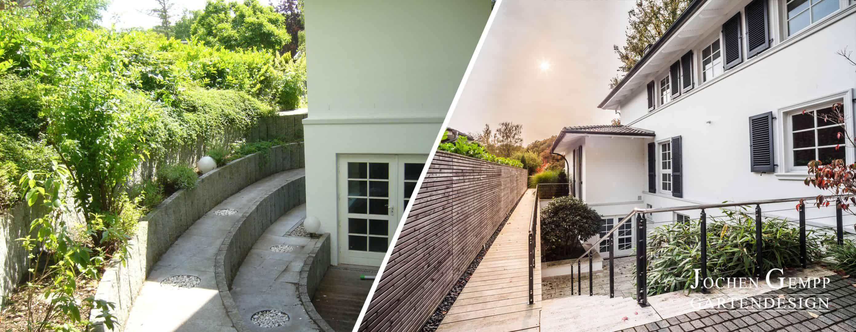 Gartengestaltungen vorher nachher gempp gartendesign for Gartengestaltung villa