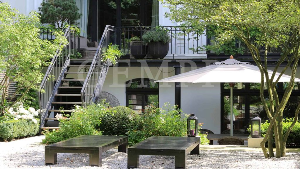 Villengarten moderner Designgarten Stadtvilla garten