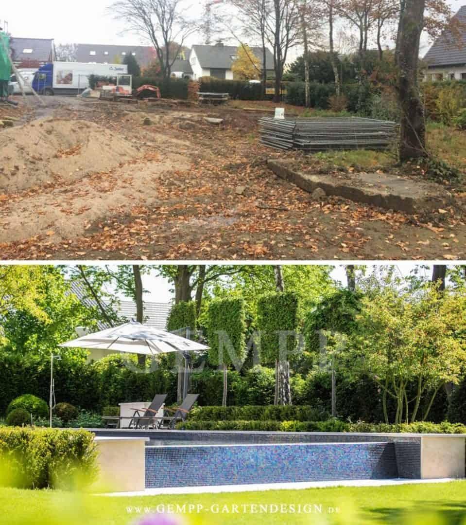 Gartengestaltung Gartenbeispiele Bilder Vorher Nachher