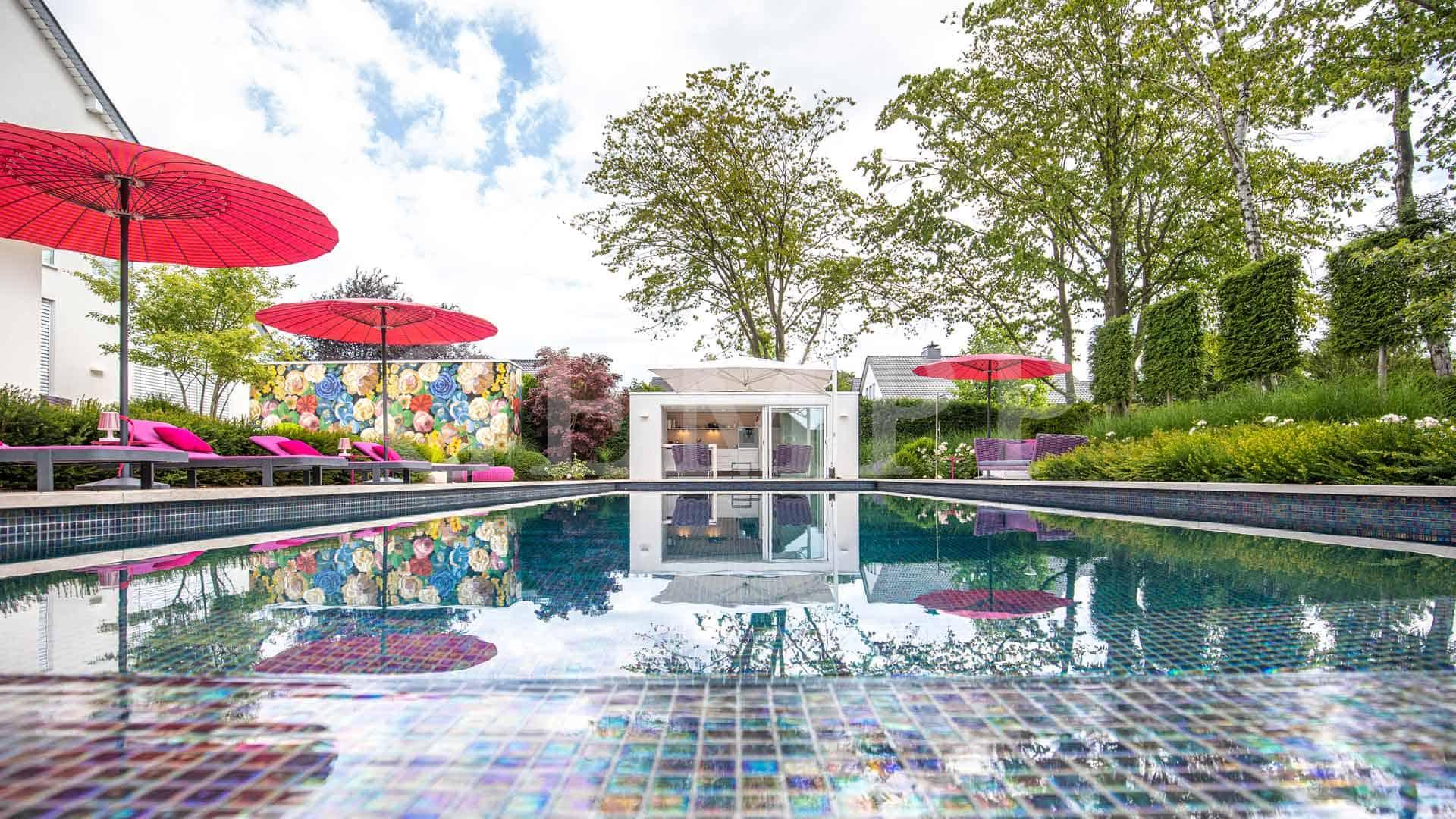 Moderne Gartengestaltung mit Pool Dortmund Düsseldorf Köln