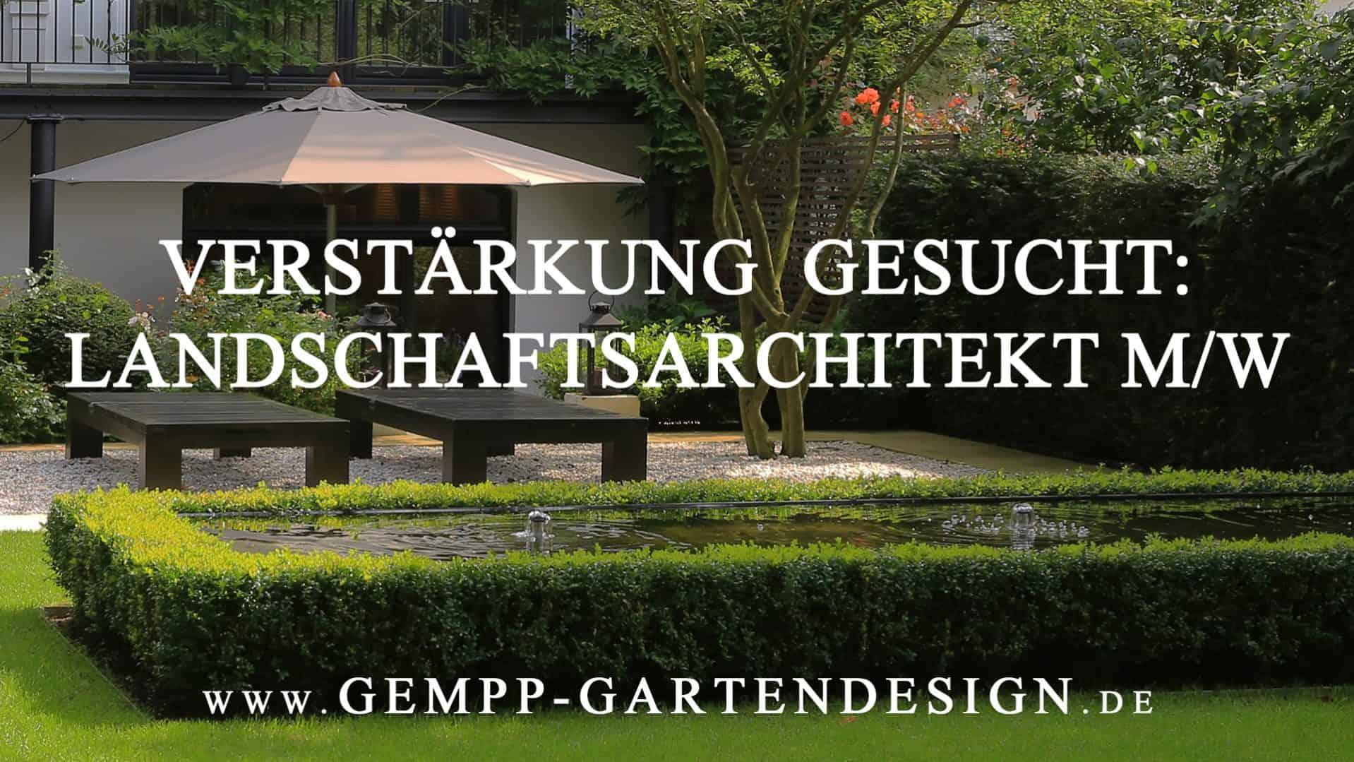 Landschaftsarchitekt Hamburg Stellenangebot Jochen Gempp