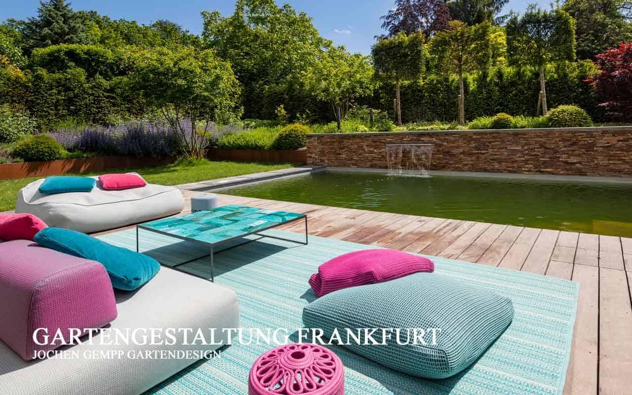 Gartenarchitekt Gartengestalter Garten Pool planen lassen Frankfurt Hessen