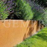 Cortenstahl Rasenkante Hochbeet Gartenbau Frankfurt