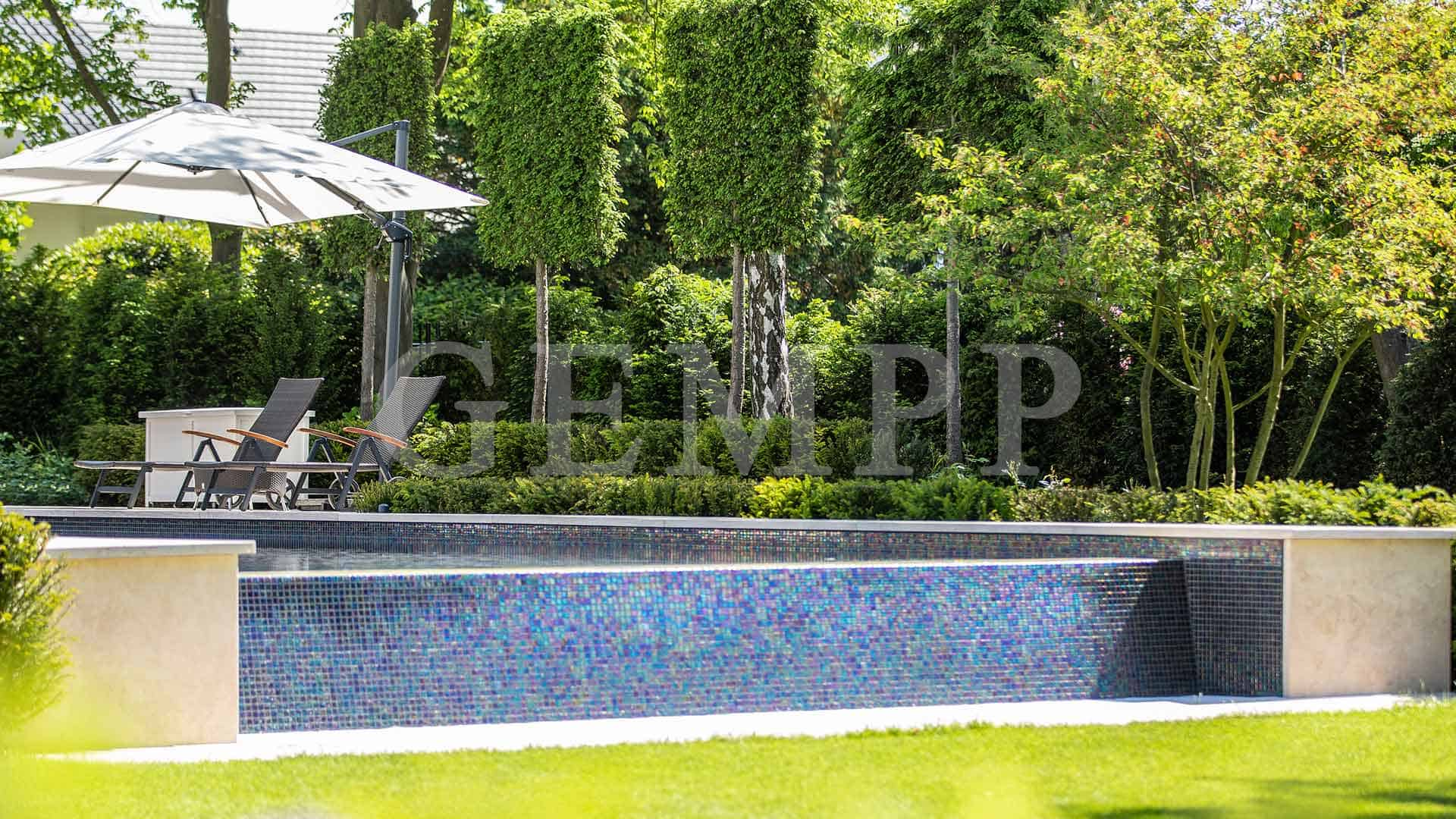 Moderne Gartengestaltung exklusives Gartendesign Pool