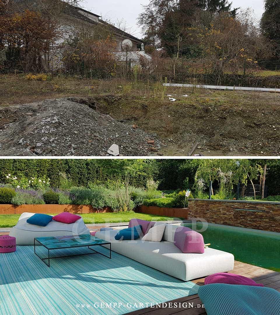 Moderne Gartengestaltung Vorher Nachher