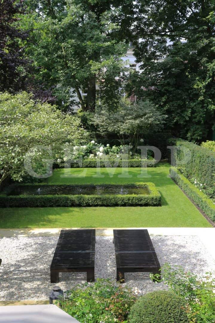 Modernes exklusives Gartendesign