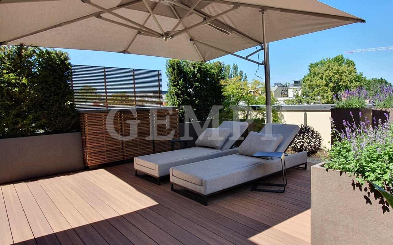 Moderne Dachterrassengestaltung Beispiel Bild