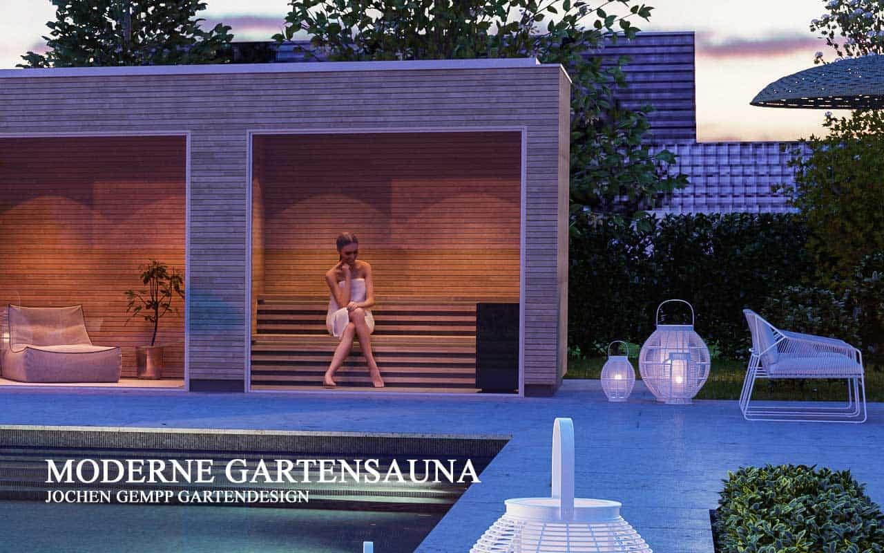 Gartensauna modern Designsauna