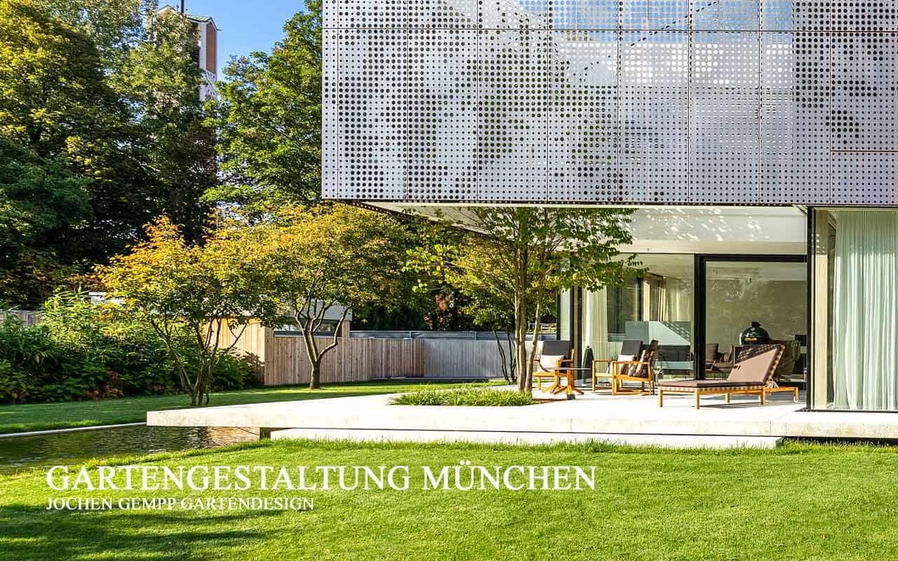 Garten im Bauhaus Stil