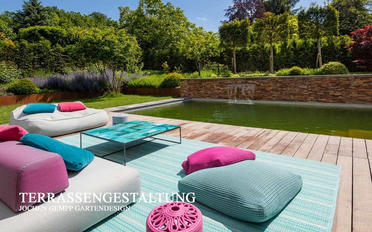 Terrassengestaltung Designgartenmöbel