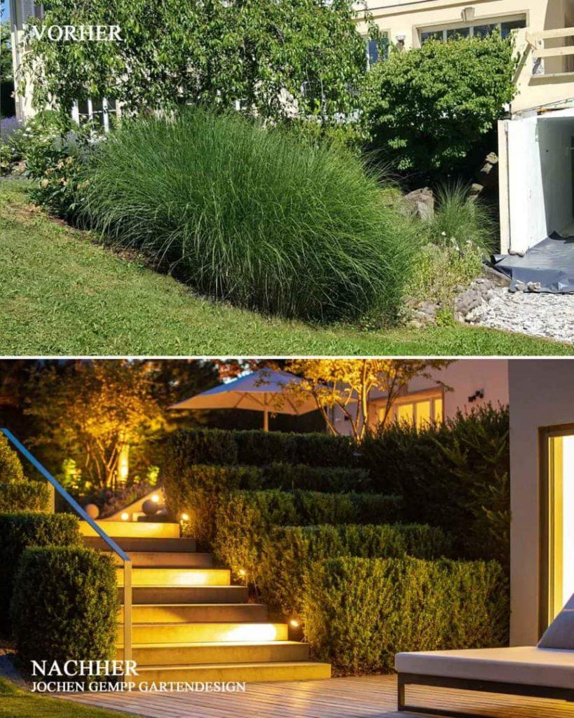 Vorher Nachher Bilder Garten Gartengestaltung Stuttgart