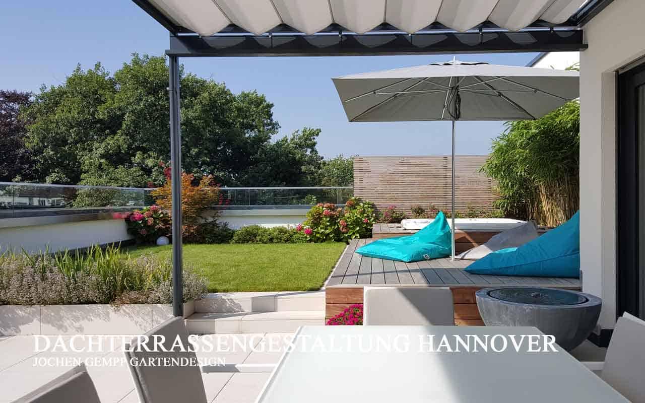 moderne Gartengestaltung Dachterrasse Landschaftsarchitekt Hannover