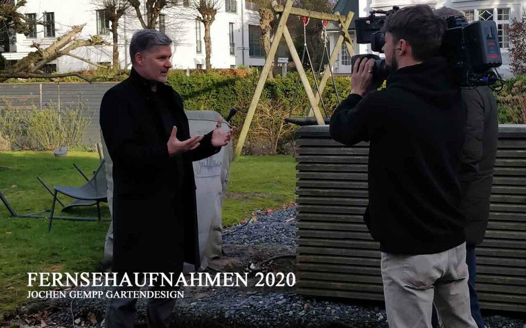 Landschaftsarchitekt Jochen Gempp Fernsehaufnahmen