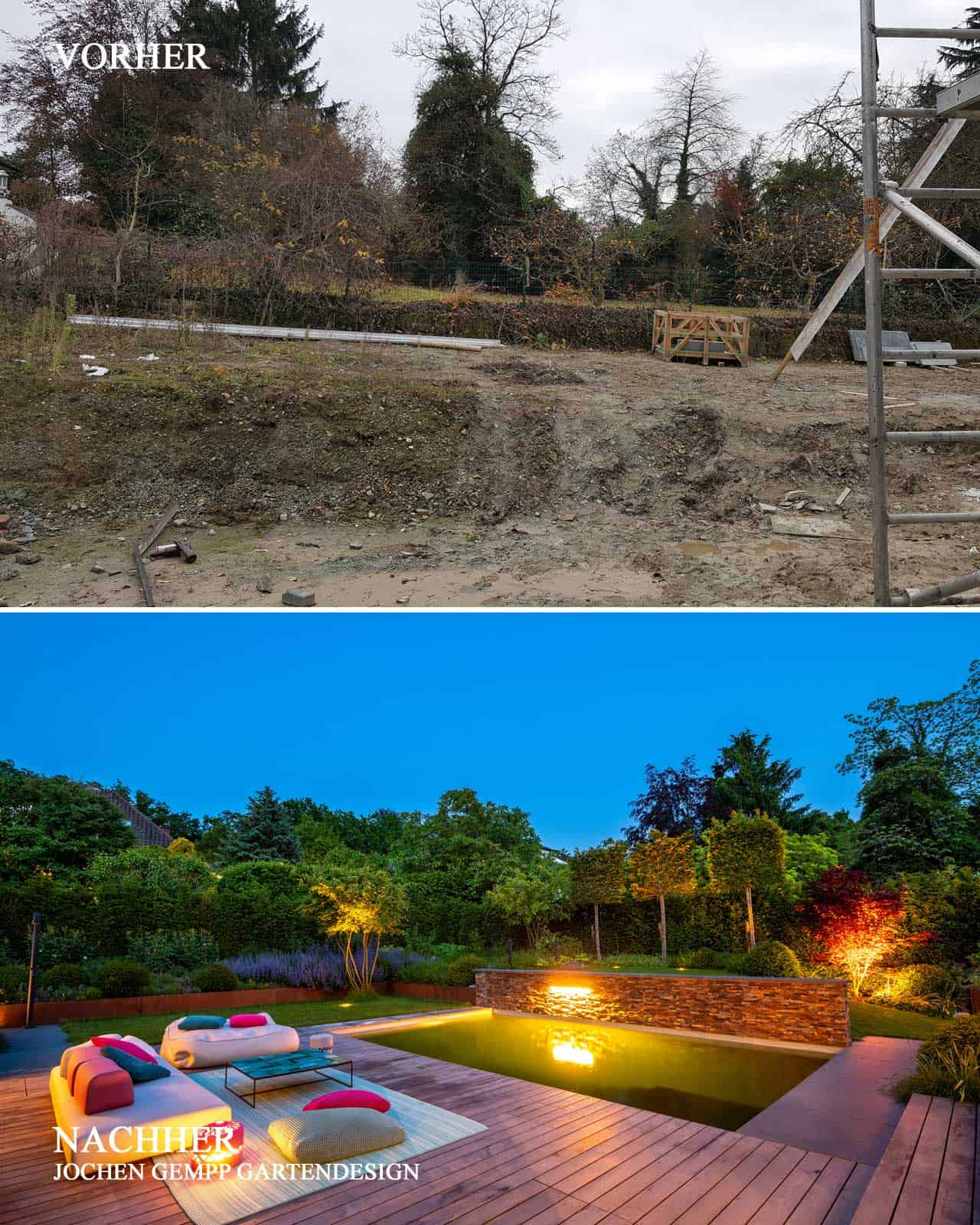before and after garden pictures