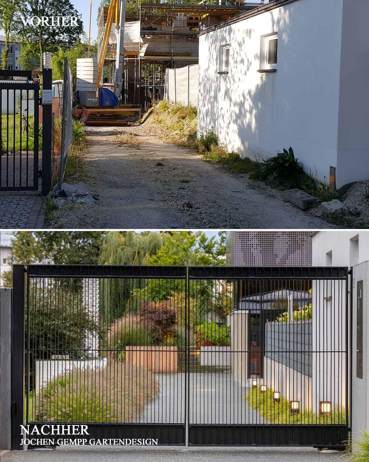 Vorher Nachher Bilder Garten Gartengestaltung Bayern