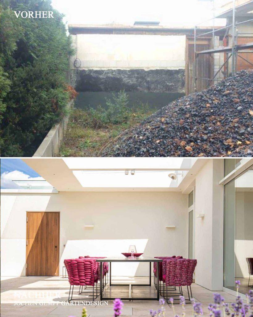 terrasse vorher nachher